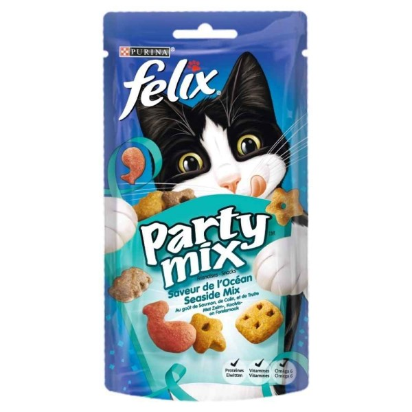 Friandises pour chat Party Mix océan, Felix (60 g)