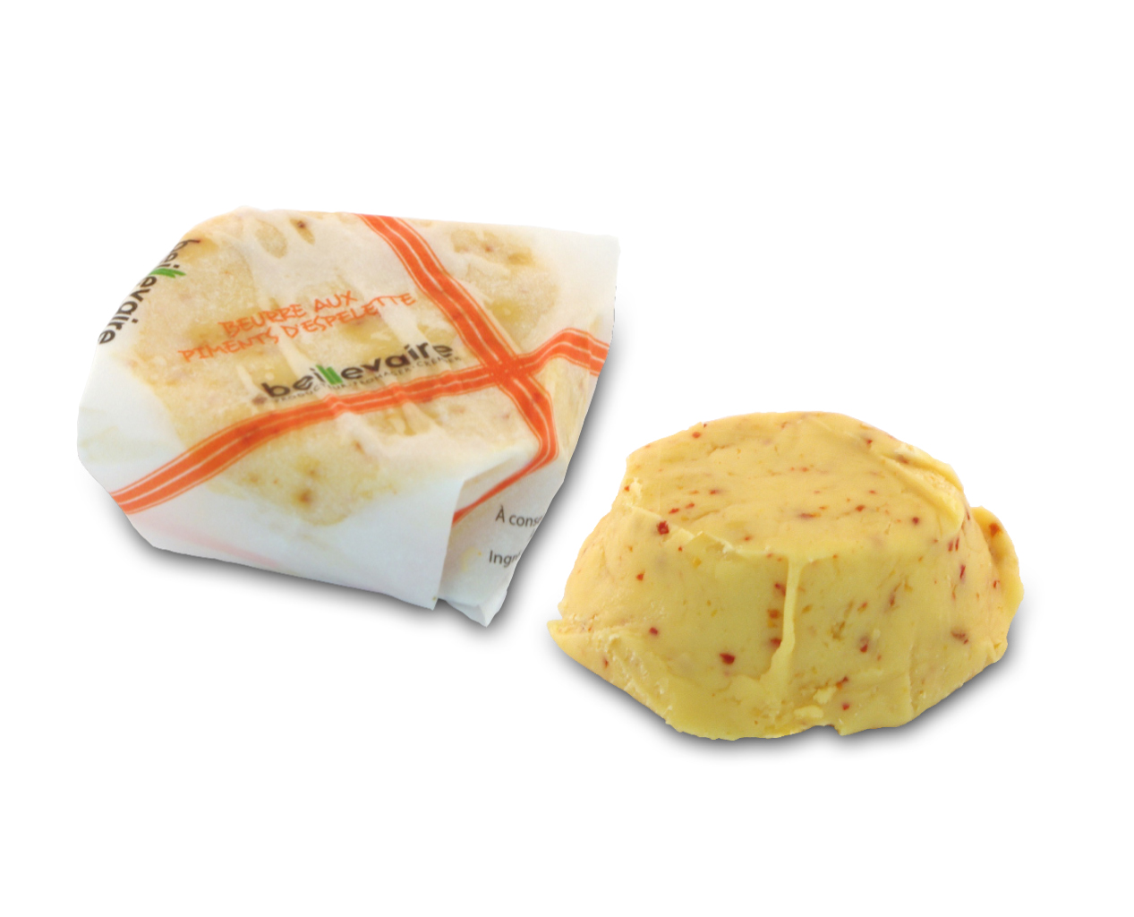 Beurre artisanal au piment d'Espelette, Beillevaire (20 g)