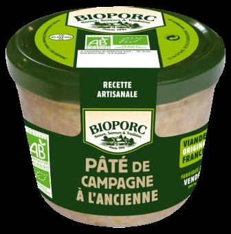 Pâté de campagne à l'ancienne BIO, Bioporc (190 g)