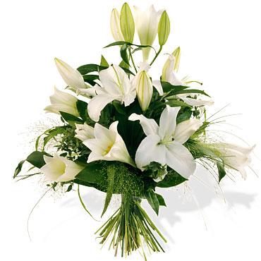 Bouquet de lys blancs bourgeons miamtag livraison for Bouquet de lys