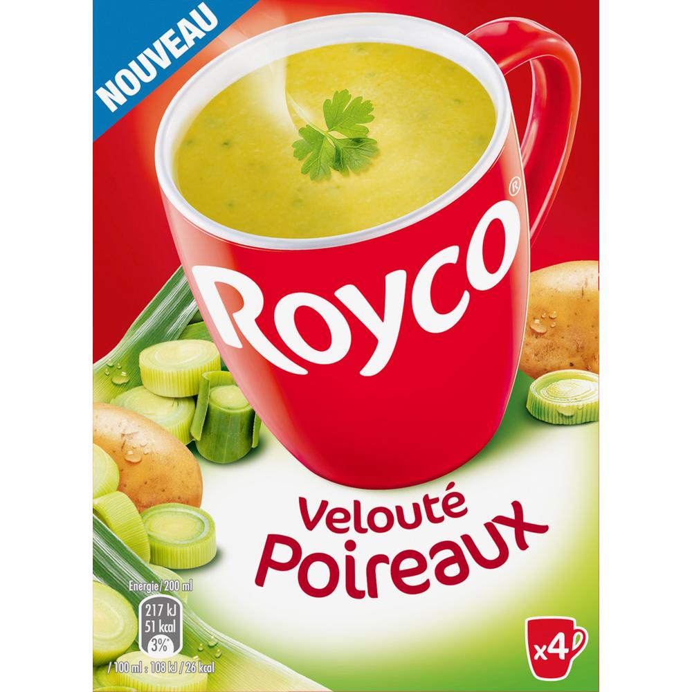 Velouté poireaux instantané, Royco (4 x 20 cl)