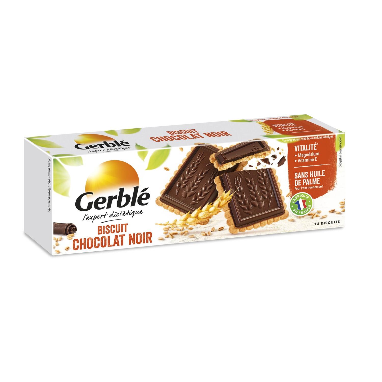 Biscuits chocolat noir intense, Gerblé (150 g)