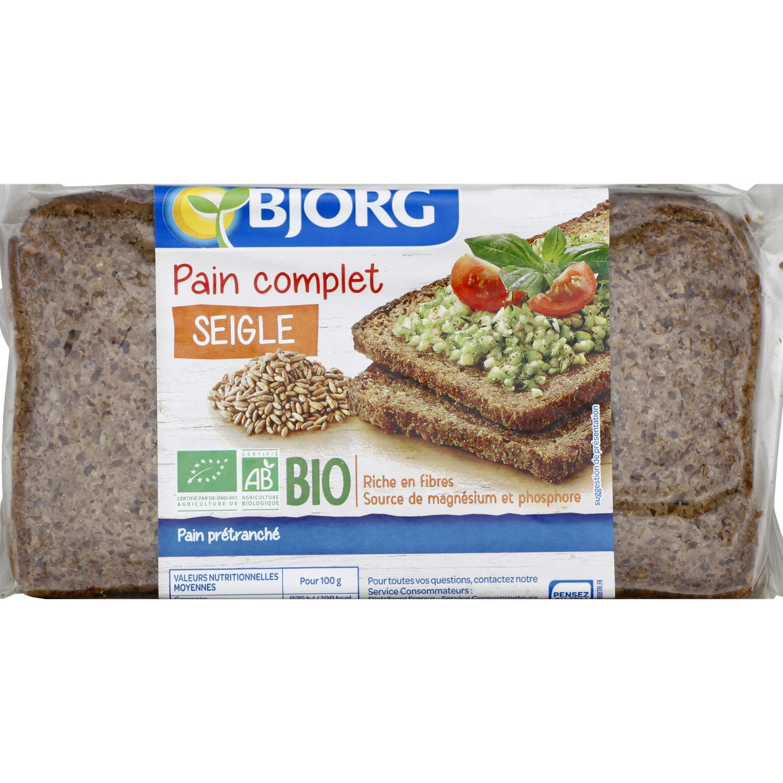 Pain complet de seigle BIO, Bjorg (500 g)
