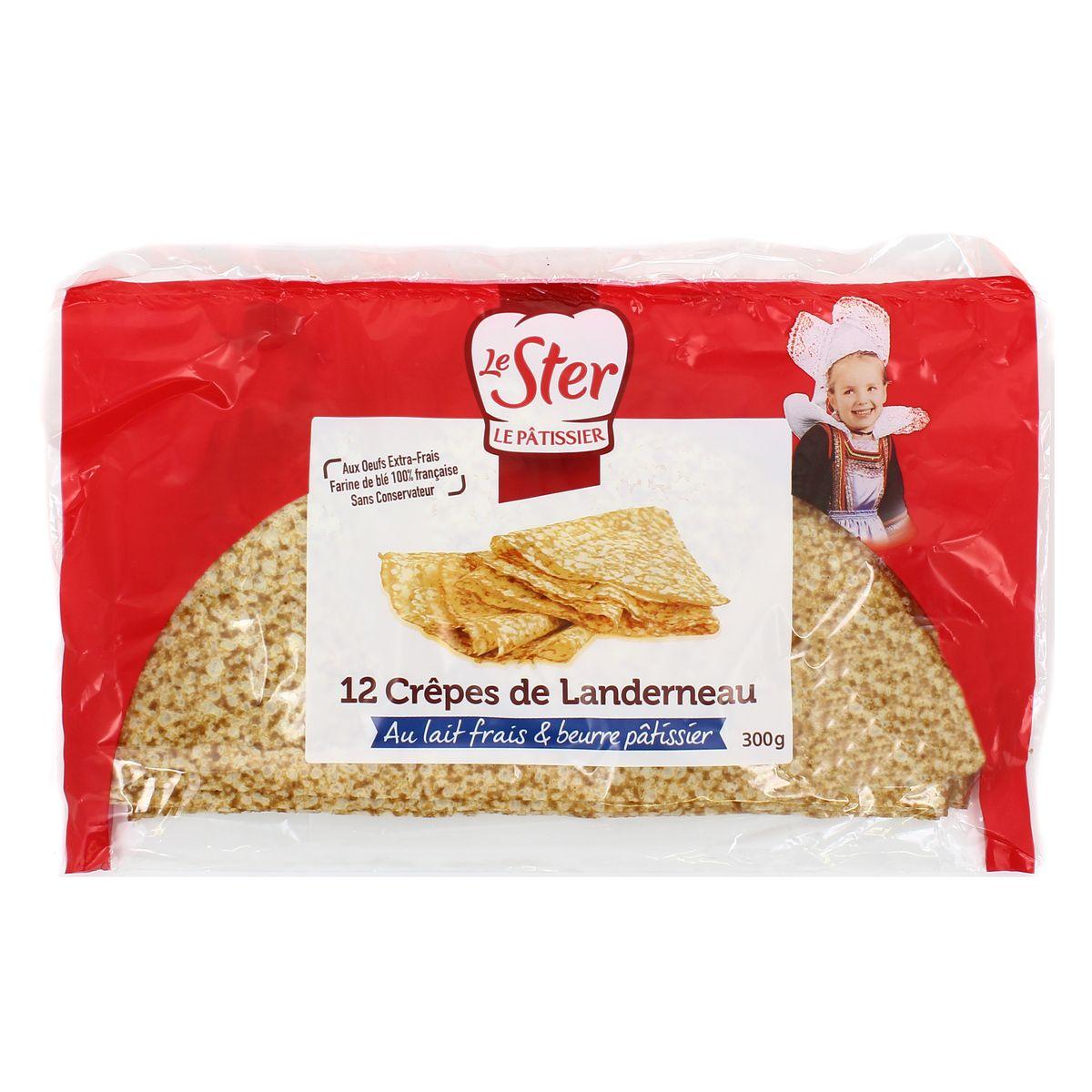 Crêpes de Landerneau au lait frais et beurre pâtissier, Le Ster (x 12, 300 g)