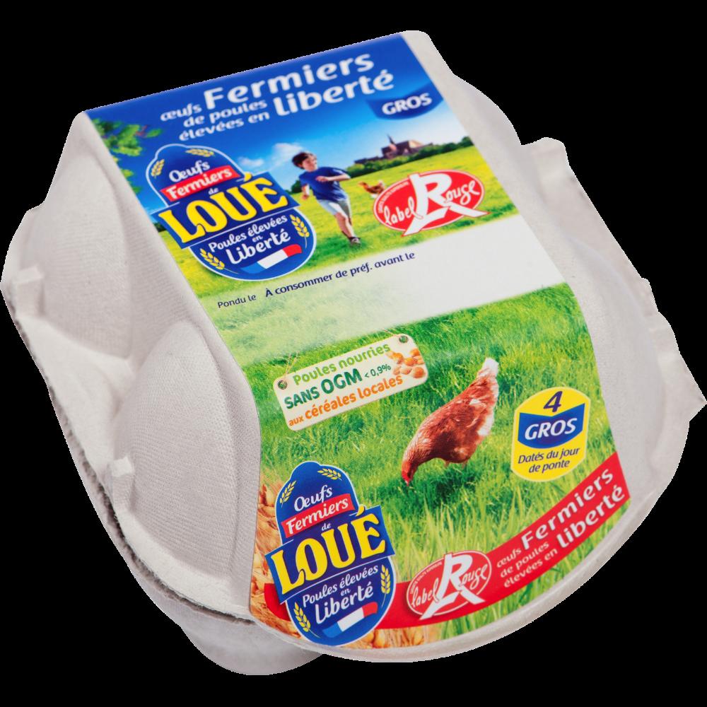 Oeufs gros Label Rouge, Loué (x 4)