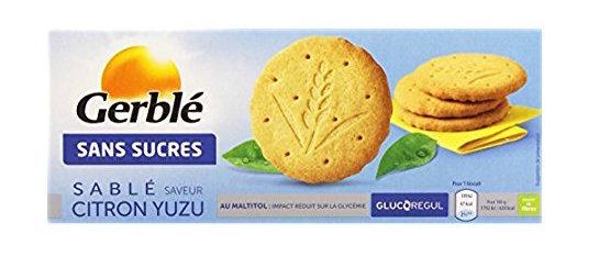 Biscuit sablé citron yuzu, Gerblé  (132 g)
