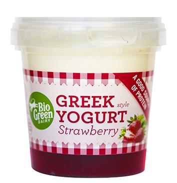 Yaourt fraise à la Grecque, Bio Green Dairy (170 g)