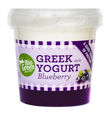 Yaourt myrtille à la Grecque, Bio Green Dairy (170 g)