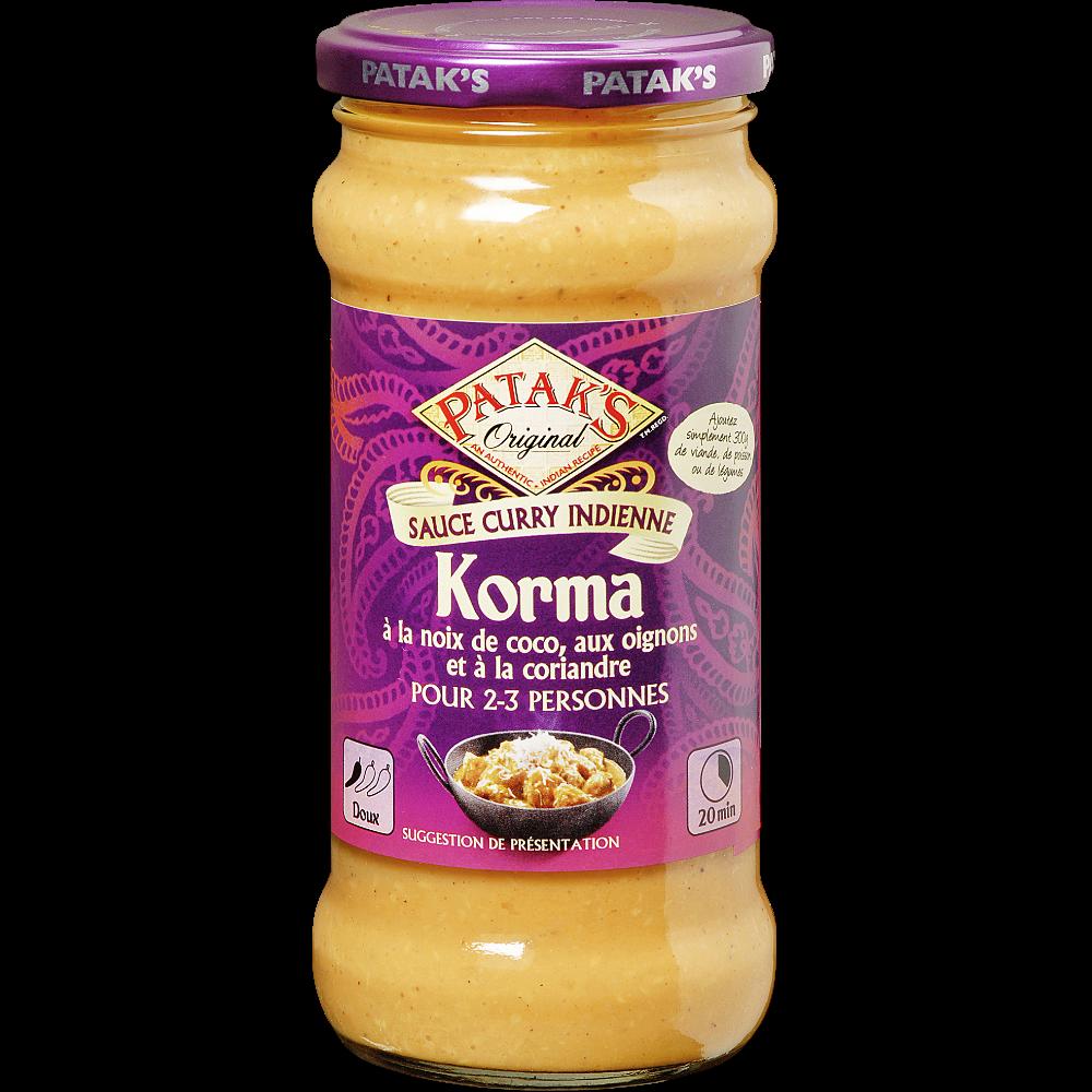 Sauce Korma Patak's (350 g)