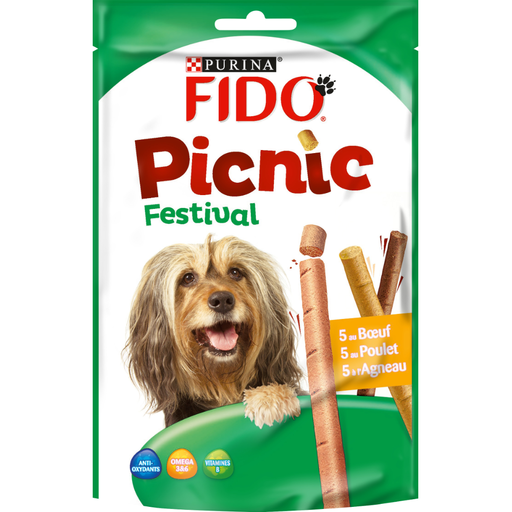 Friandises pour chien Pic-Nic Festival, Purina Fido (x 15, 126 g)