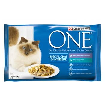 Sachet repas pour chats d'intérieur, Purina One (4 x 85 g)