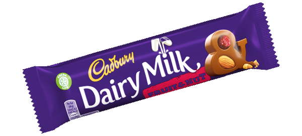 Dairy Milk aux amandes et raisins, Cadbury (49 g)