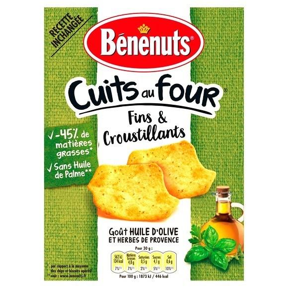 Crackers fins & croustillants Huile d'olive & herbes, Benenuts (90 g)