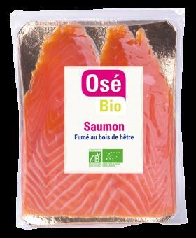 Saumon fumé Irlande ou Ecosse BIO, Osé Bio (2 tranches mini, 80 g)