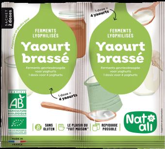 Préparation en poudre pour yaourt brassé BIO, ferments lyophilisés, Natali (12 g)