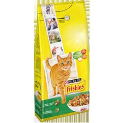 Croquettes pour chat lapin, poulet et légumes, Friskies (2 kg)