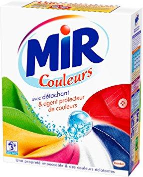 Lessive en poudre couleur 5 doses, Mir (360 g)