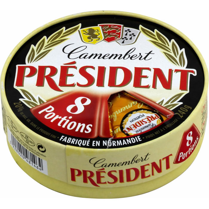 Camembert 8 portions, Président (240 g)