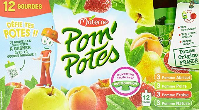 Pom'potes Multivarieté, Materne (12 x 90 g)