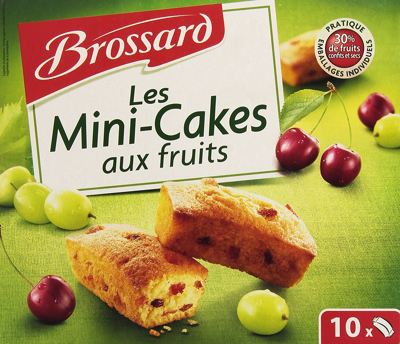 Mini cake aux fruits, Brossard (x 10, 300 g)
