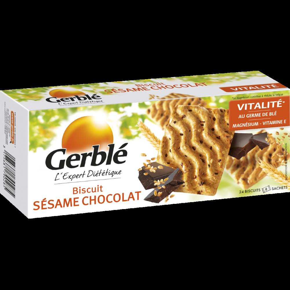 Biscuits au sésame et chocolat, Gerblé (200 g)