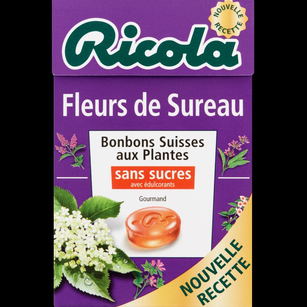 Bonbons fleurs de sureau sans sucre, Ricola (50 g)