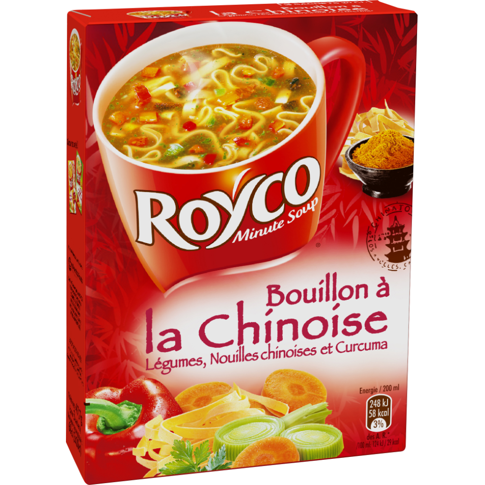 Bouillon de légume à la chinoise Minute soup', Royco (60 cl)