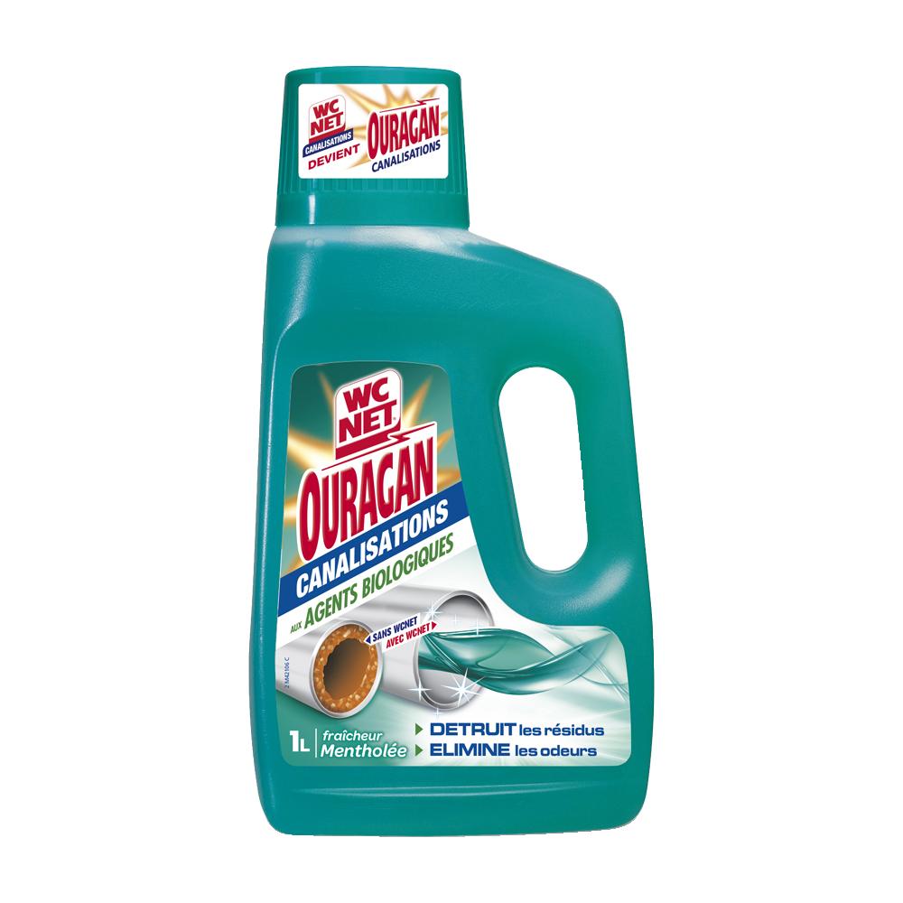 Gel canalisation aux agents biologiques fraîcheur mentholée, WC Net (1 L)