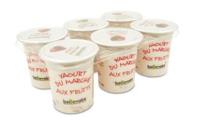 Yaourt du marché fraise, Beillevaire (x 6)