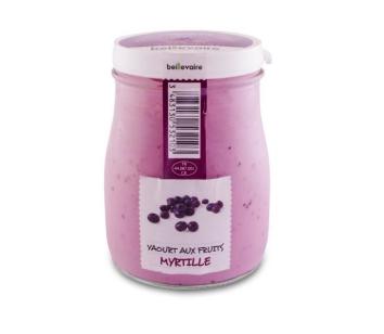 Yaourt à l'ancienne aux fruits myrtille, Beillevaire (180 g)