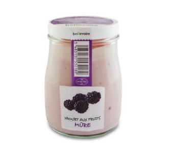 Yaourt à l'ancienne aux fruits mûre, Beillevaire (180 g)