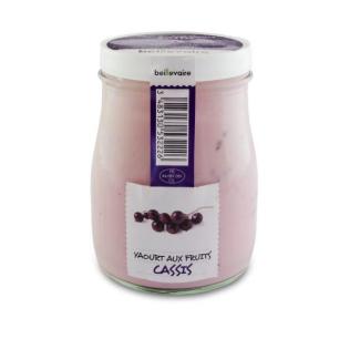Yaourt à l'ancienne aux fruits cassis, Beillevaire (180 g)