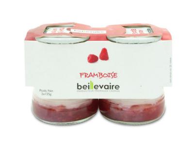 Yaourt aux fruits framboise, Beillevaire (x 2)