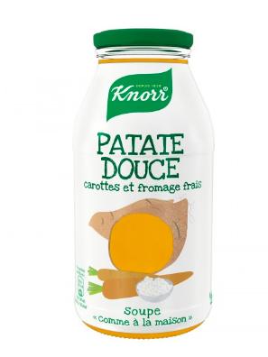 Soupe Patate Douce, carotte et fromage frais, Knorr (45 cl)
