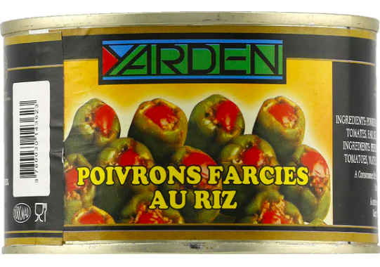 Poivrons farcis au riz, Yarden (400 g)