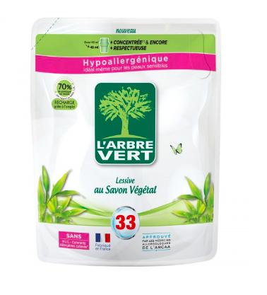Lessive liquide écologique en recharge, L'Arbre Vert (1.5 L)