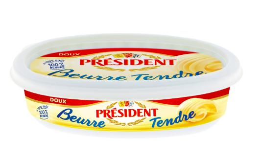 Beurre doux tendre, Président (125 g)