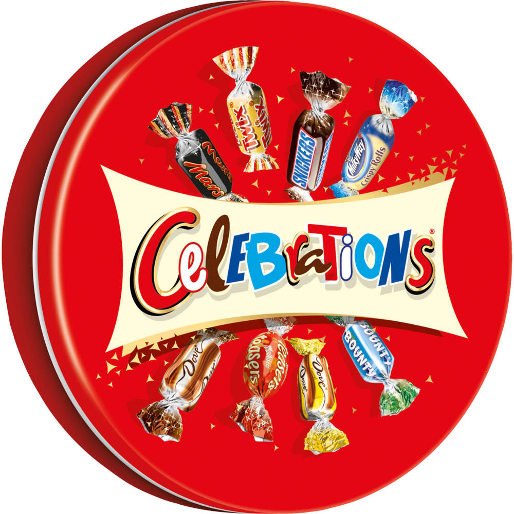 Chocolats assortis boîte métal, Célébrations (435 g)