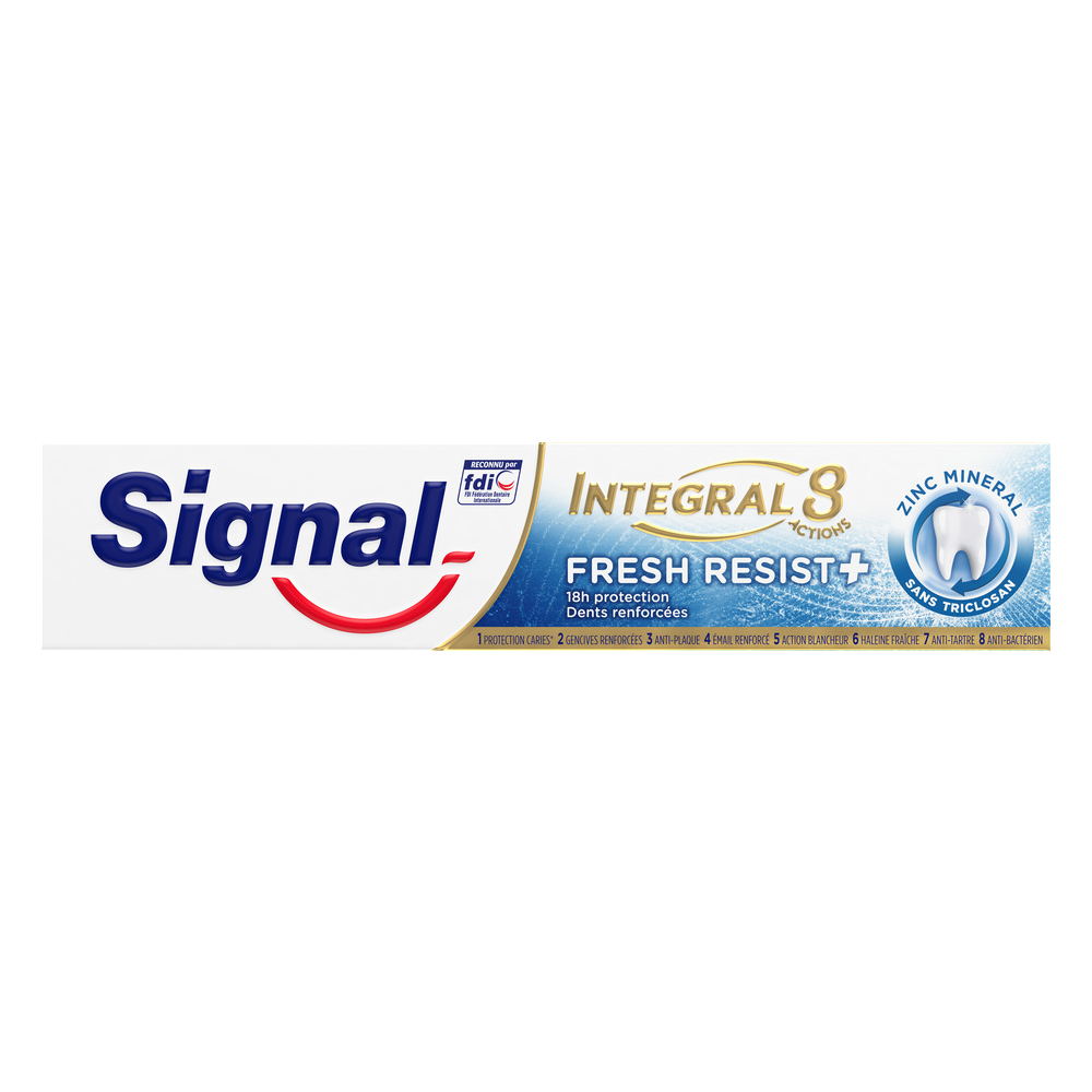 Dentifrice Intégral 8 fresh Resist +, Signal (75 ml)