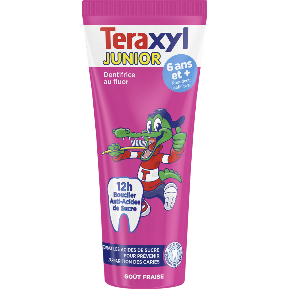 Dentifrice Junior Fraise 6 ans et +, Teraxyl (75 ml)