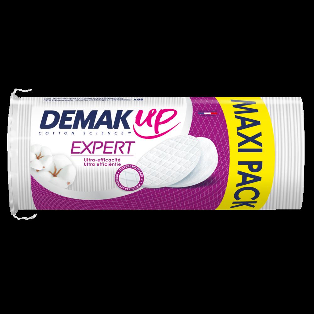 Disques ovales de coton à démaquiller Expert, Demak'up (x 68)