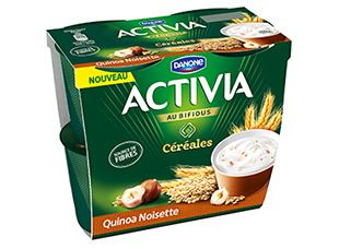 Yaourt Quinoa noisettes, Activia (4 x 120 g)