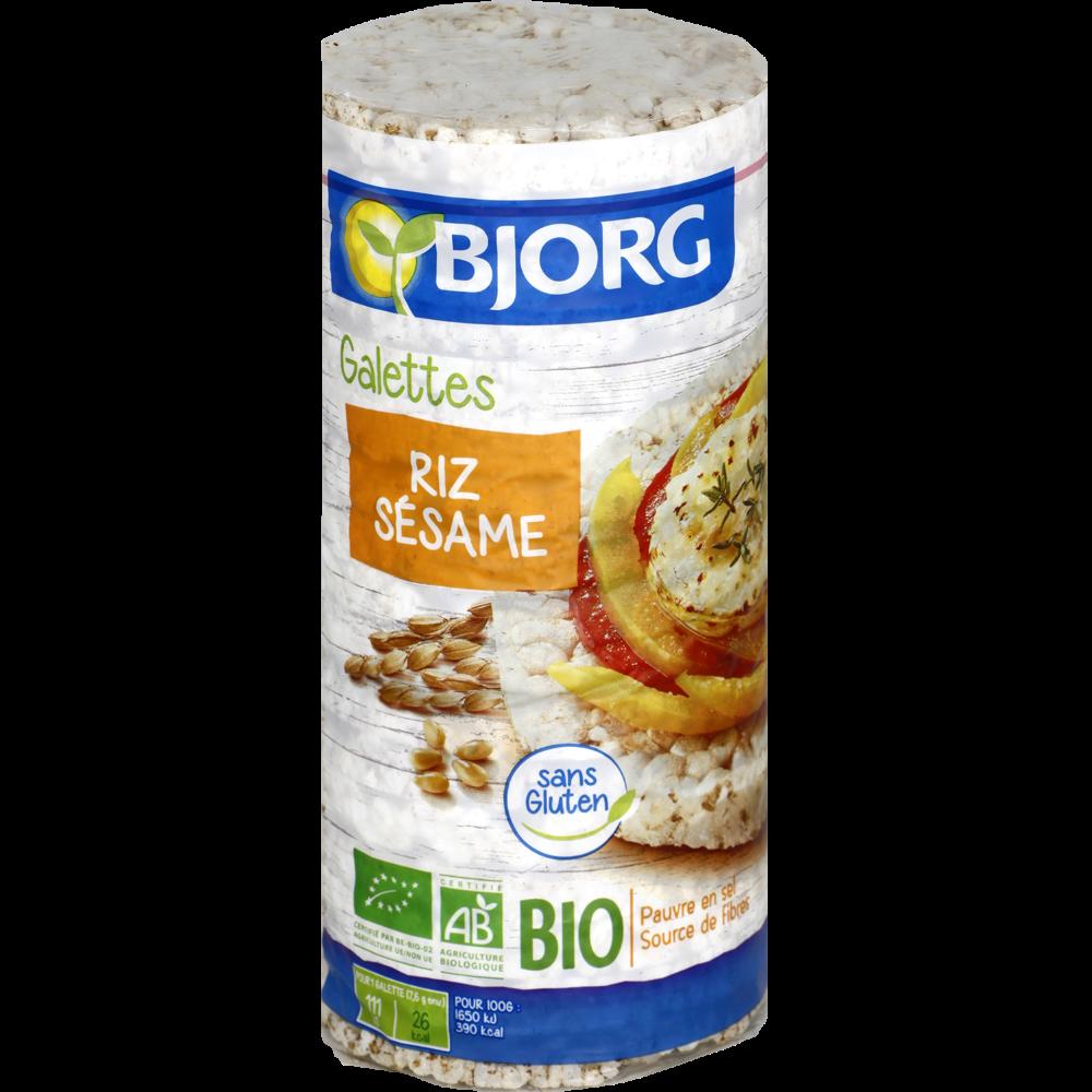Galette de riz sesame BIO, Bjorg (130 g)