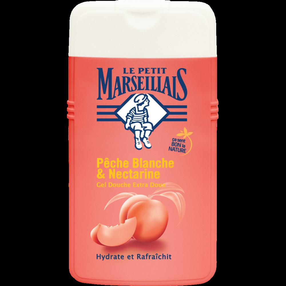 Gel douche extra doux pêche blanche et nectarine, Le Petit Marseillais (250 ml)