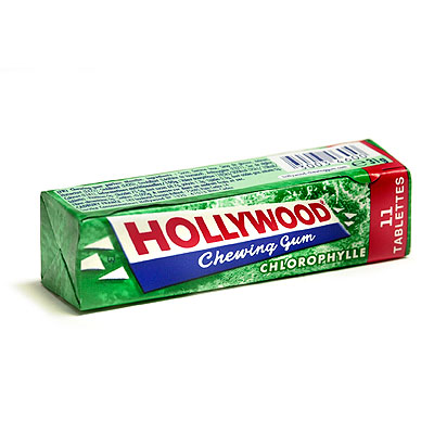 Chewing-gum Chlorophylle, Hollywood (11 tablettes)