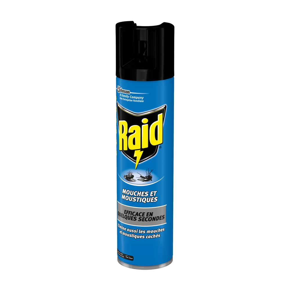 Insecticide mouche & moustique aérosol, Raid (400 ml)