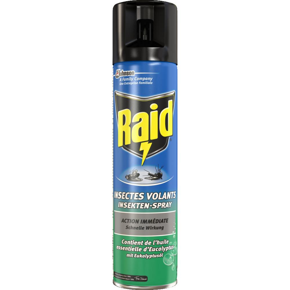 Insecticide spécial Volants à l'eucalyptus, Raid (400 ml)