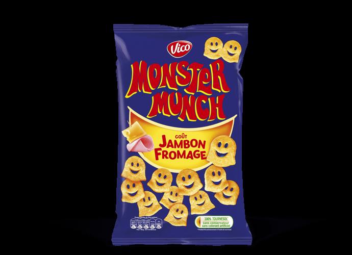 Monster Munch goût jambon fromage, Vico (85 g)
