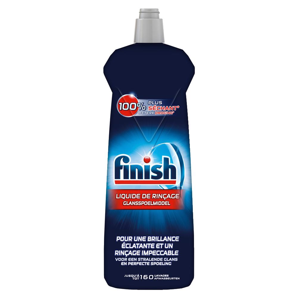 Liquide de rinçage pour lave vaisselle brillance + séchage, Finish (800 ml)