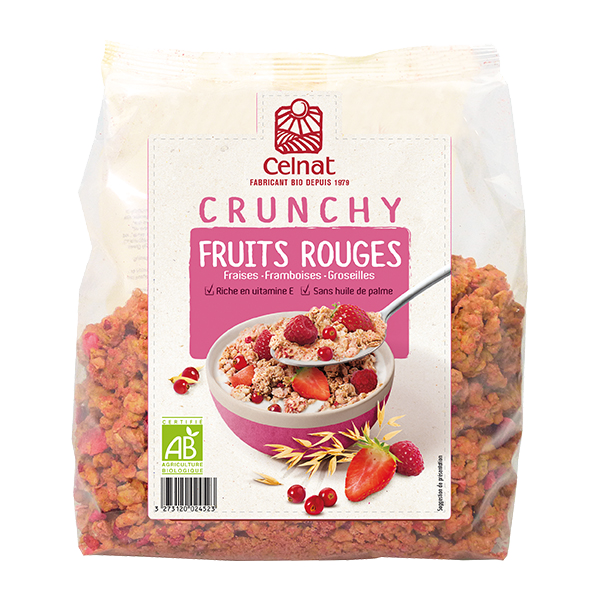 Crunchy fruits rouges BIO, Celnat (500 g)